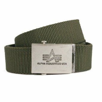 Alpha Industries opasek Heavy Duty Belt olivový