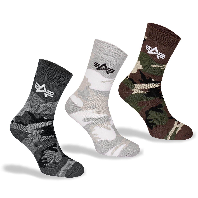 Alpha Industries Camo Socks Box