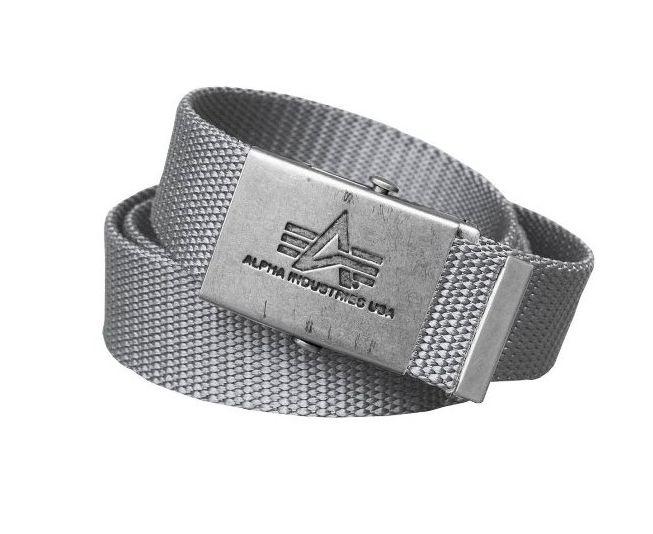 Alpha Industries opasek Heavy Duty Belt (Silver)