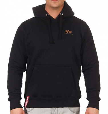Alpha Industries Basic Hoody Small Logo (black/gold)