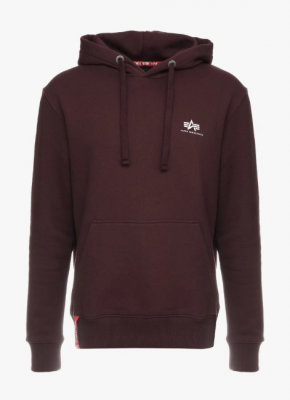 Alpha Industries Basic Hoody Small Logo (deep maroon)