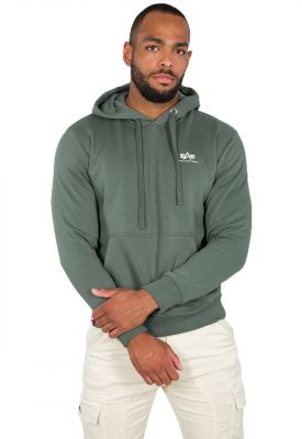 Alpha Industries Basic Hoody Small Logo (vintage green)