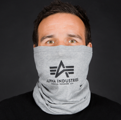 Alpha Industries Basic Logo Tube Mask (grey heather/black)