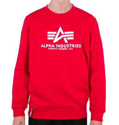 Alpha Industries pánská mikina Basic Sweater (speed red)