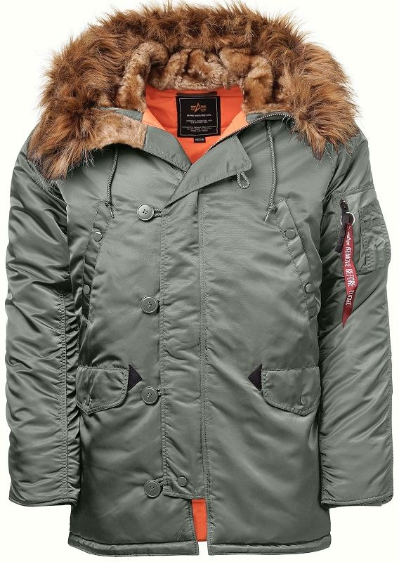 103141-432   Bunda Alpha Industries N3B VF 59 (vintage green)