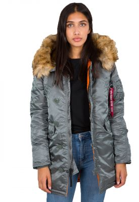 Dámská bunda Alpha Industries N3B VF 59 Wmn (vintage green)
