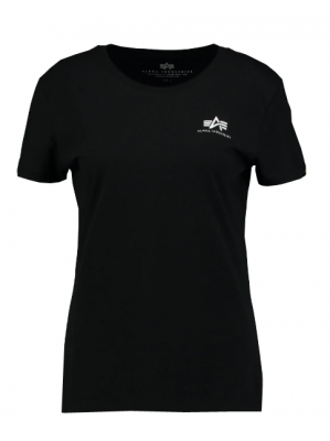 Alpha Industries Basic T Small Logo Wmn (black)