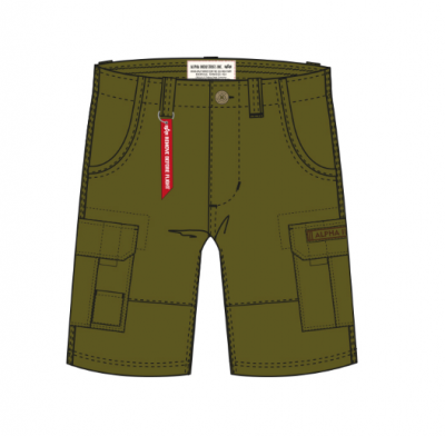 Alpha Industries šortky Jet Short (khaki green)