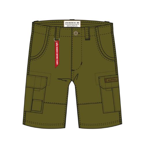 Alpha Industries kraťasy Jet Short (khaki zelené) - Etappa