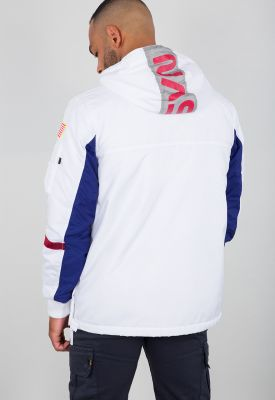 Alpha Industries pánská bunda Space Camp Anorak bílý - Etappa
