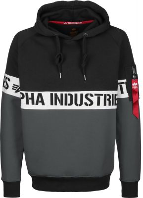 Alpha Industries AI Stripe Hoody (black)