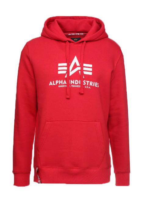 Alpha Industries pánská mikina Basic Hoody (červená) - Etappa