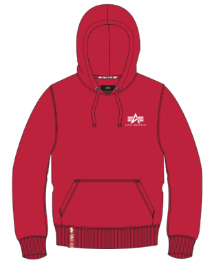 Alpha Industries Basic Hoody Small Logo (speed red)