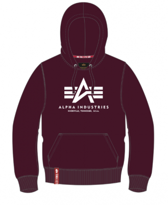 Alpha Industries Basic Hoody (deep maroon)