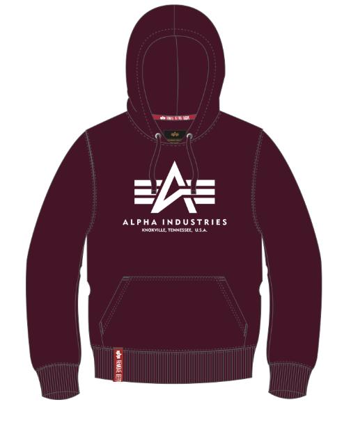 Alpha Industries Basic Hoody (deep maroon)