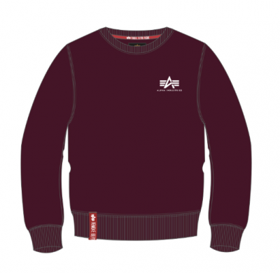 Alpha Industries Basic Sweater Small Logo (deep maroon)