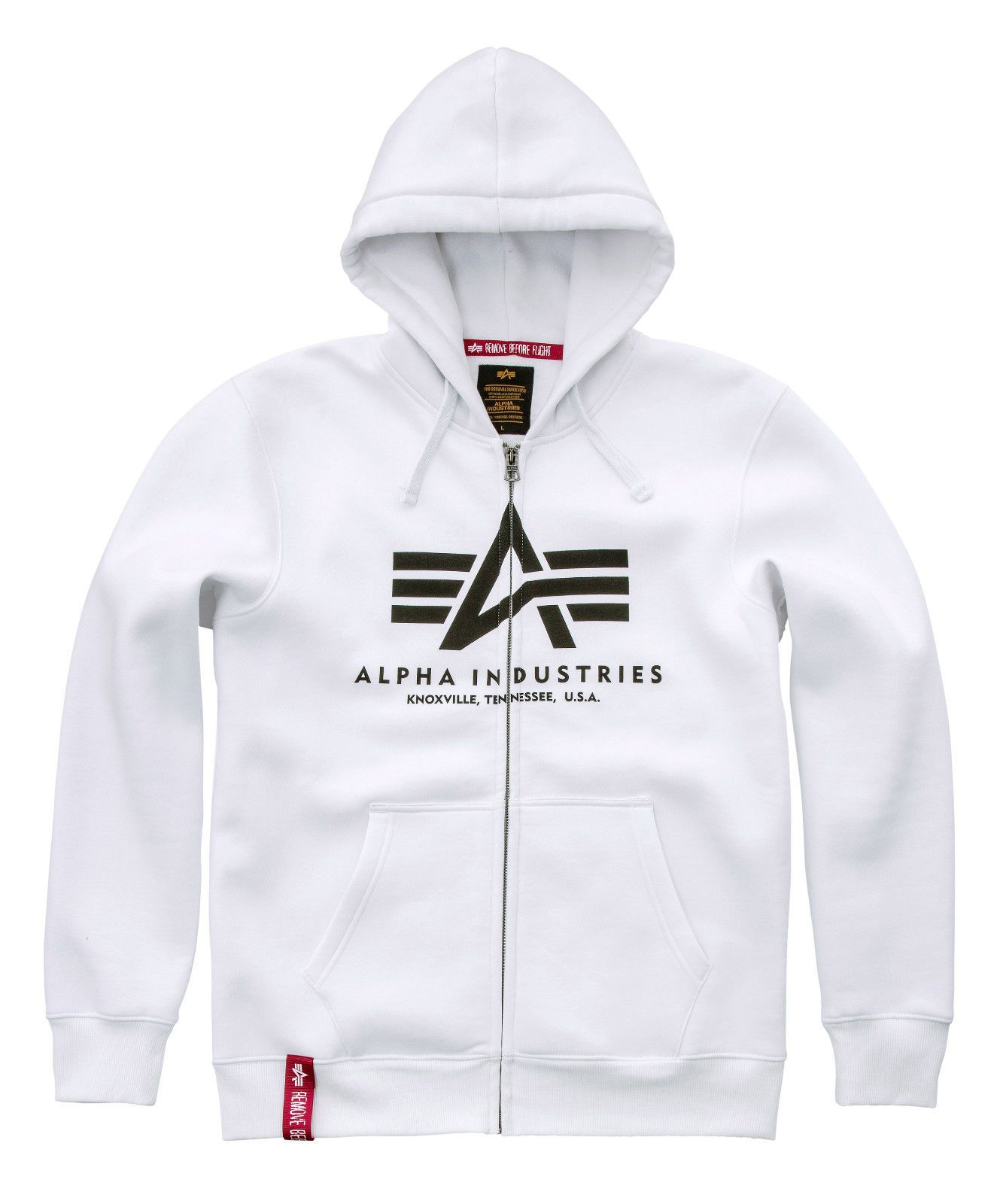 Alpha Industries Basic Hoody zip (white)