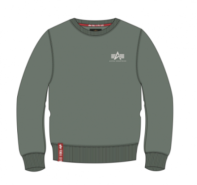 Alpha Industries Basic Sweater Small Logo (vintage green)