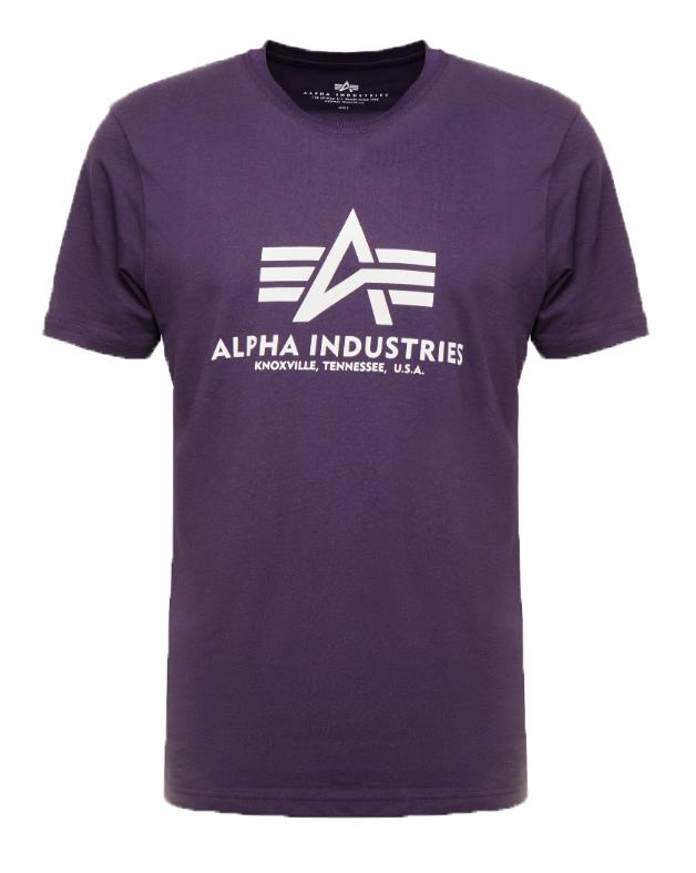 Alpha Industries pánské triko Basic fialové - Etappa