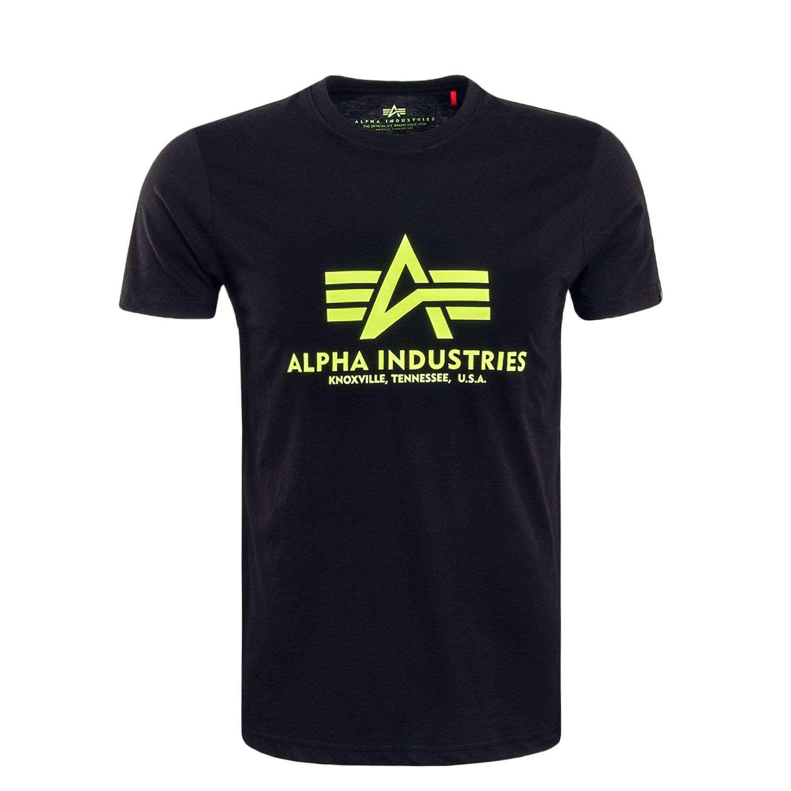 Alpha Industries Basic triko černá/neon