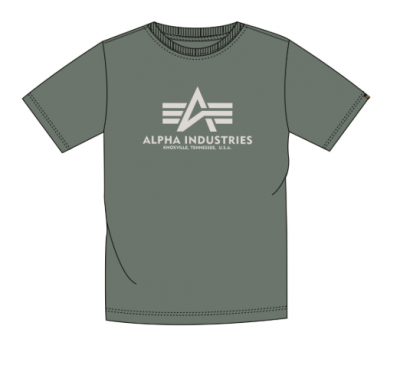 Alpha Industries triko Basic T (vintage green)