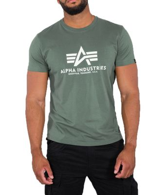 100501-432 Alpha Industries triko Basic T (vintage green)