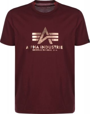 Alpha Industries Basic T burgundy/gold