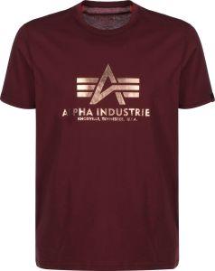 Alpha Industries Basic T burgundy/gold