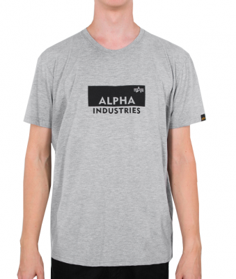Alpha Industries Box Logo T (grey heather)