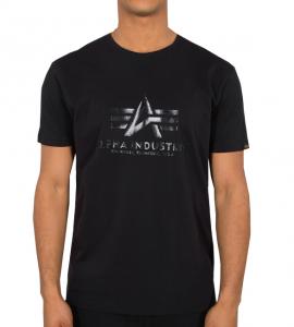 Alpha Industries Vinyl Logo T (black)