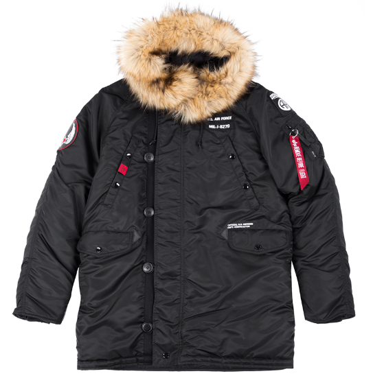 188141-03   Bunda Alpha Industries N3B Airborne (black)