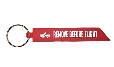 Rubber Keychain RBF red