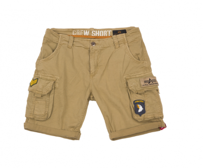 Alpha Industries šortky Crew Short Patch (sand)
