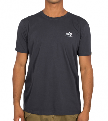 Alpha Industries Basic T Small Logo (iron grey)