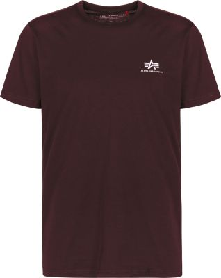 Alpha Industries Basic T Small Logo (deep maroon)