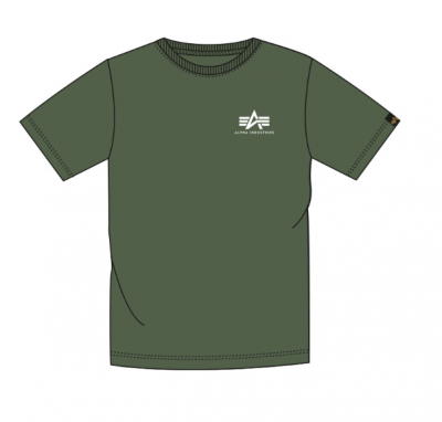 Alpha Industries Basic T Small Logo (dark green)