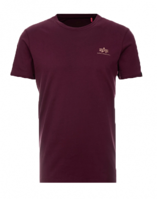 Alpha Industries Basic T Small Logo (burgundy/gold)