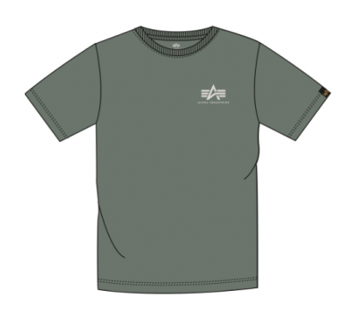 Alpha Industries Basic T Small Logo (vintage green)