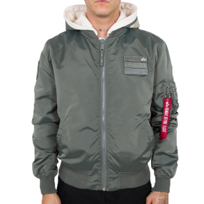 Alpha Industries MA-1 TT  Hood Custom (vintage green)