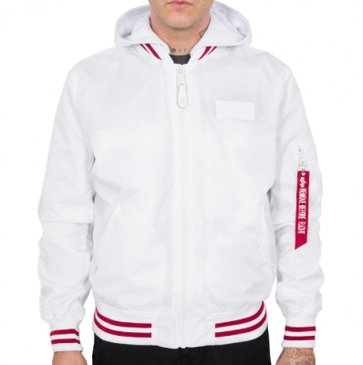 Alpha Industries MA-1 TT  Hood Defense (white)