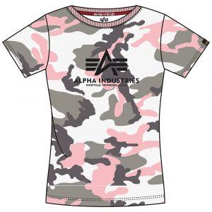 Alpha Industries dámské triko New Camo Basic T (grey pink)