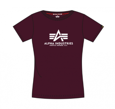 Alpha Industries dámské triko New Basic T (deep maroon)
