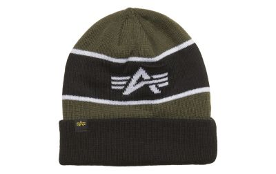 Alpha Industries Block Beanie (dark green)