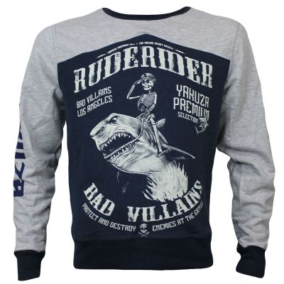 Yakuza Premium sweater YPP 2824 (grey/blue)