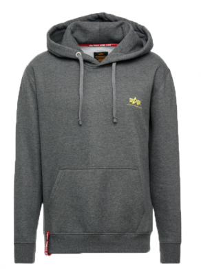 Alpha Industries Basic Hoody Small Logo (charcoal heather)