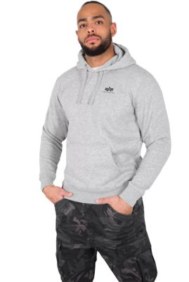 Alpha Industries Basic Hoody Small Logo (grey heather)