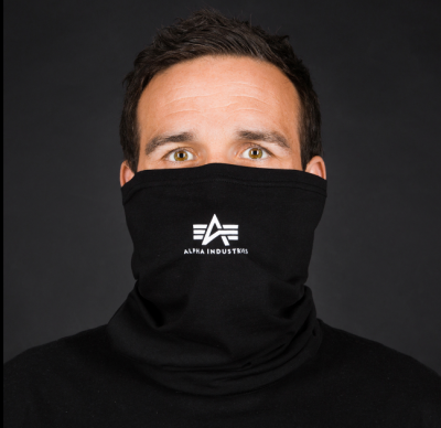Alpha Industries Basic Small Logo Tube Mask (black/white)