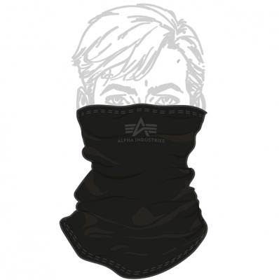 Alpha Industries Basic Small Logo Tube Mask (black/grey)