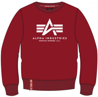 Alpha Industries pánská mikina Basic Sweater (RBF red)