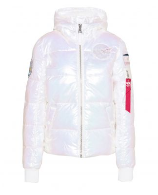 Alpha Industries Hooded Puffer NASA Wmn (white)